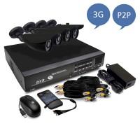 H view камеры безопасности системы 4ch системы видеонаблюдения